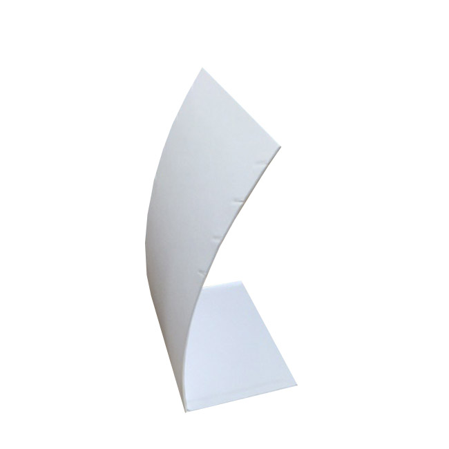 White Leatherette Necklace Display Stand. Holds 4. Dim 90(w) x 200mm(H).